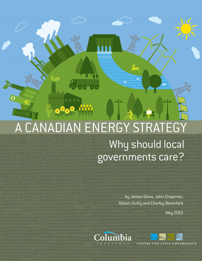 A canadian energy strategy - front page