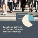 Cover of Canadians' Opinions on Climate Policy and Federal Leadership, Fall 2016