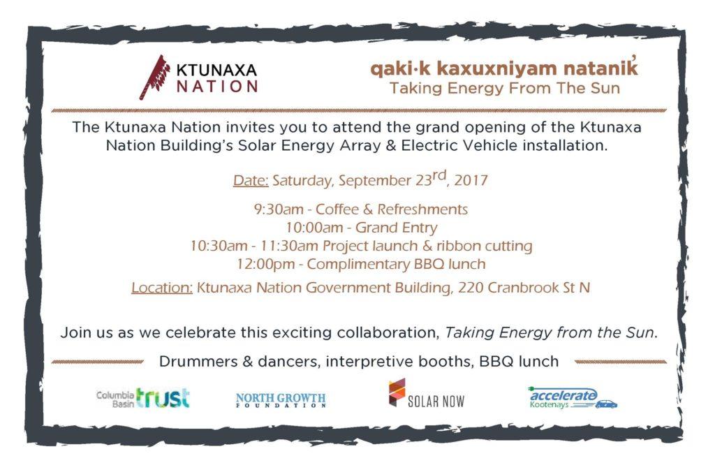 Ktunaxa Solar Now Launch Party