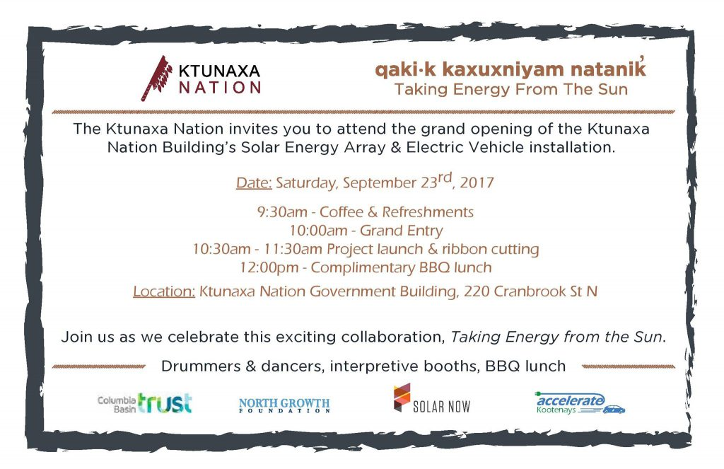 Ktunaxa Solar Now Launch Party