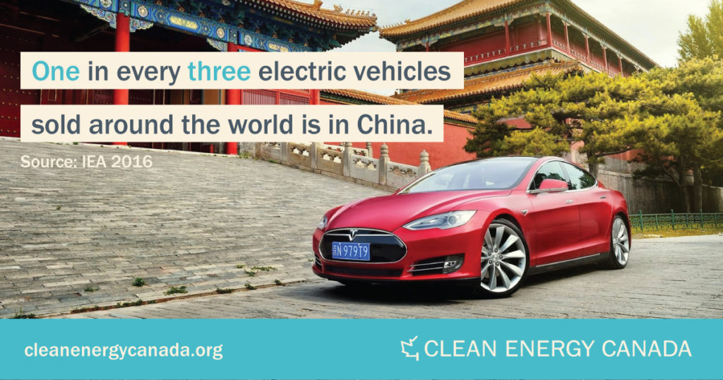 Generation Energy: China's rapid adoption of electric vehicles is a major trend in the global clean energy transition. Source: Clean Energy Canada.