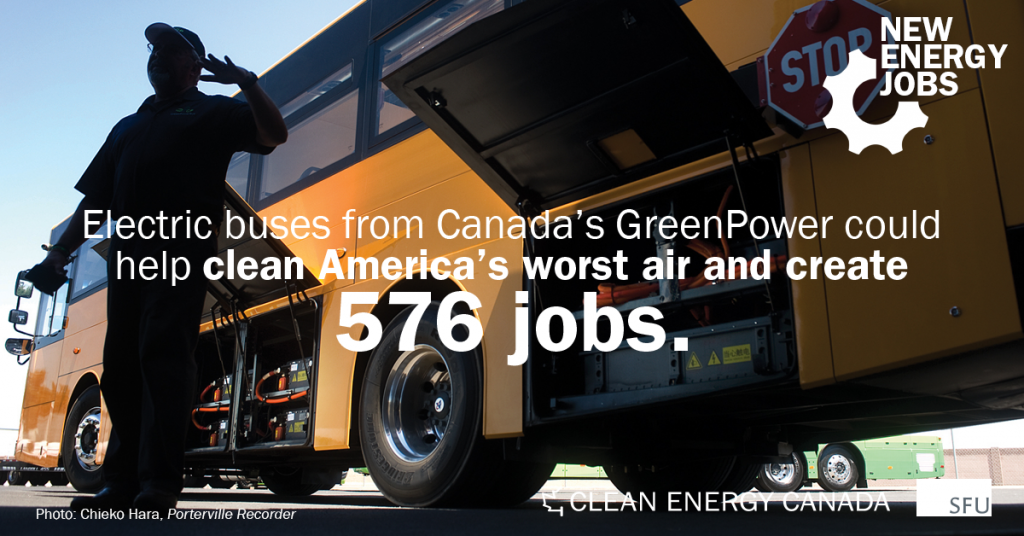 Canadian electric buses clear the air in one of America's smoggiest cities
