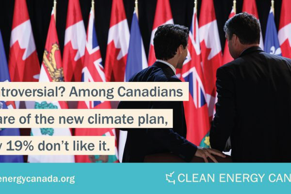 Poll: Canadians react positively to national climate and clean growth plan